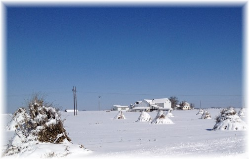 Lancaster farm scene after snowstorm 3/6/15 (Click to enlarge)