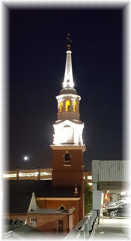 Church steeple in downtown Lancaster, PA