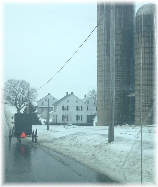 Old-order Mennonite traffic 2/22/15