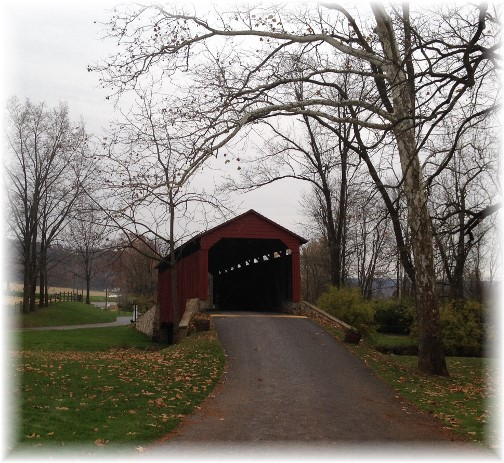 Poole Forge Covered Bridge, Lancaster County, PA 11/13/14 (Click to enlarge)