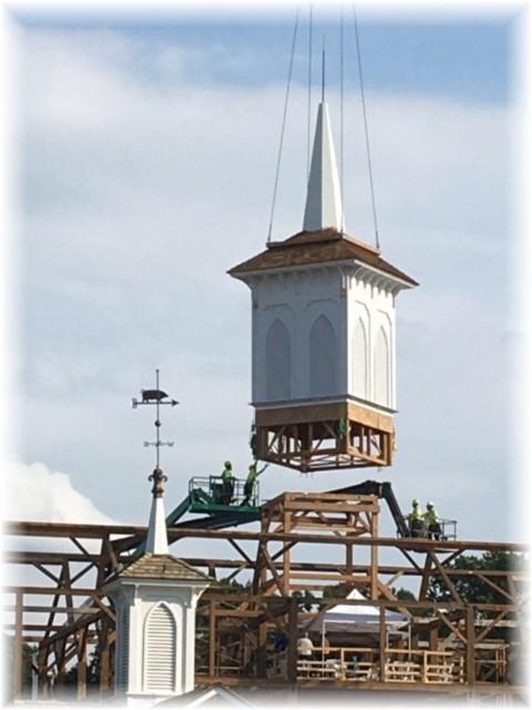 Star Barn cupola lowering 7/4/17 (Photo by Rachel Caldwell)