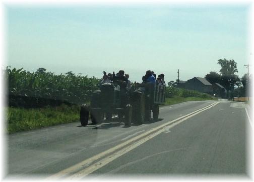 Lancaster County Sunday hay ride 6/29/14