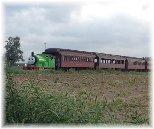 Thomas the Tank engine on the Strasburg Railroad 9/11/14