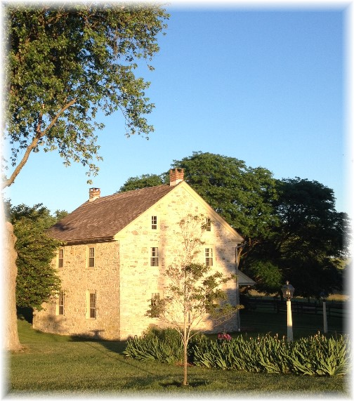 Stone farmhouse on Trout Run Road, Lancaster County, PA