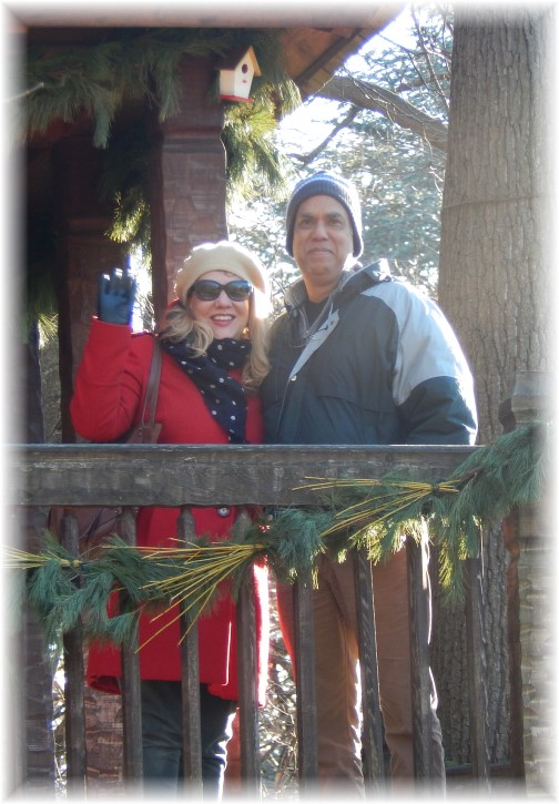Genelle and Cesar in treehouse at Longwood Gardens 12/19/14