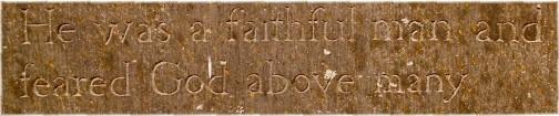 Faithful man tombstone