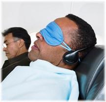 Headphones on airplane
