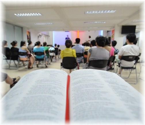 Chinese worship service