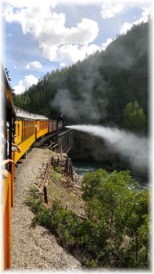 Durango/Silverton railroad, CO 7/8/16