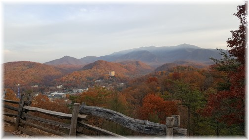 Smoky Mountain foliage and Gatlinburg, TN 11/22/16