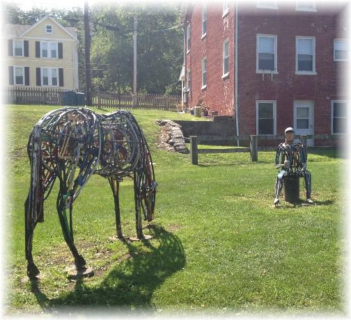 Hanover Junction sculpture on York Heritage Rail Trail 9/8/15