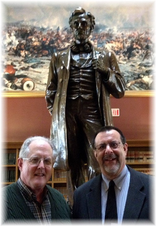 John Keefer and Stephen C. Weber at PA state Capitol 4/8/14