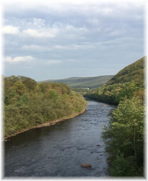 Lehigh River toward Jim Thorpe PA 9/19/15