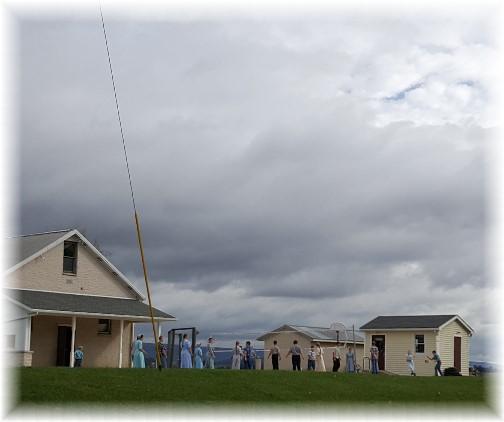 Recess at one room Mennonite School, Lebanon County, PA 10/10/17