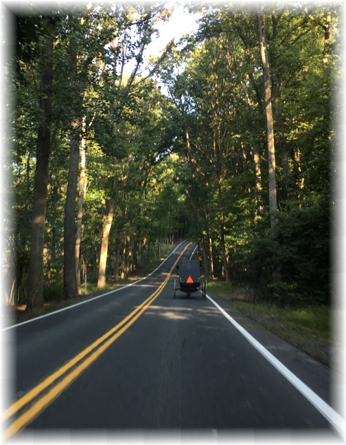 Church traffic near Mount Gretna, PA 9/10/17