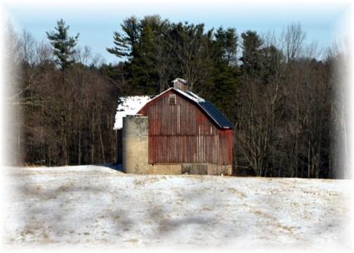 Winter barn (photo by Doris High)