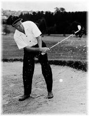 Billy Graham playing golf