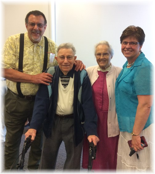 Jesse and Wilma Dourte, 70th anniversary gathering 4/30/17