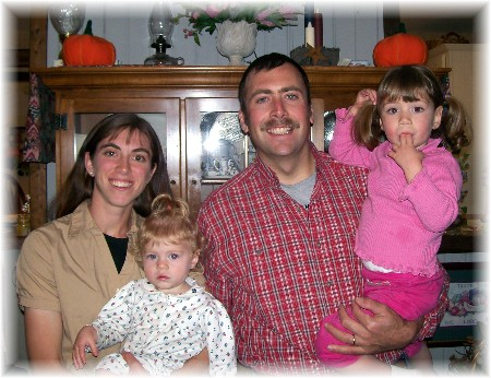 Jason & Becky Oberholser and family 11/11/09