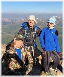 Phil with family on Mount Bierstadt 8/1/17