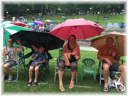 Pierce family at Triumphant Quartet concert 7/23/17