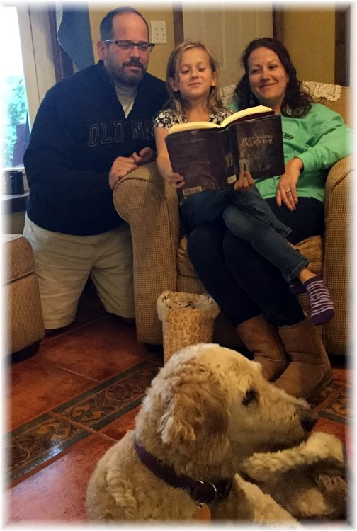 Tim and Amy Sandell, Maddy 10/3/15