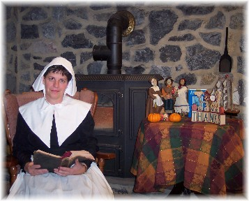 Photo of Brooksyne dressed as a Pilgrim