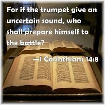 1 Corinthians 14:8