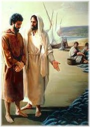 Jesus with Peter in John 21