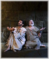 Paul and Silas in prison Philippi