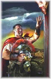 Roman centurion at cross