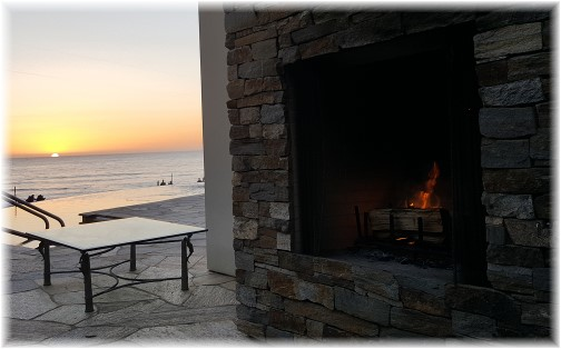Pacific ocean fireplace sunset 10/18/16