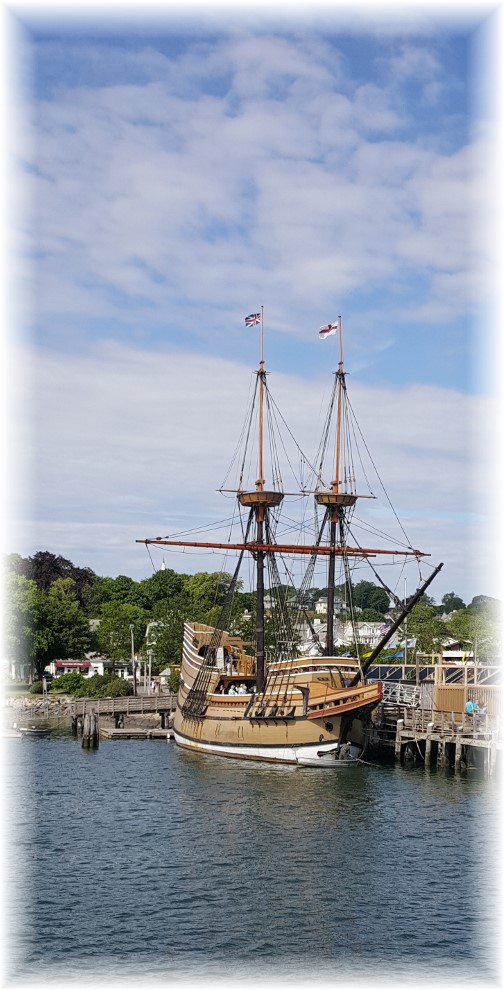 Mayflower replica in Plimouth Harbor 6/17/16