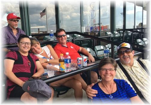 With Rick and Rachel Caldwell at Lancaster Barnstormer baseball game 7/2/17