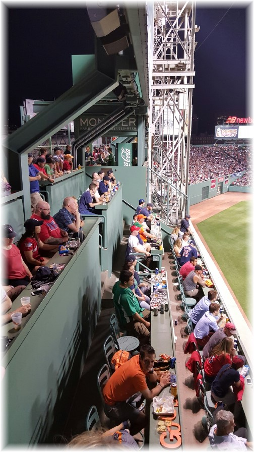 """Green monster"" seating at Fenway Park 6/15/16"