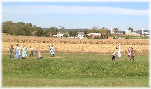 Baseball game at Mennonite school 10/9/14