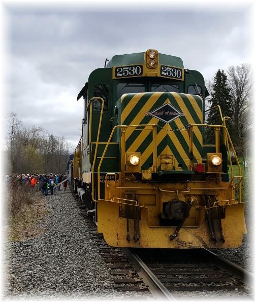 Lehigh River Gorge train in White Haven 04/23/16