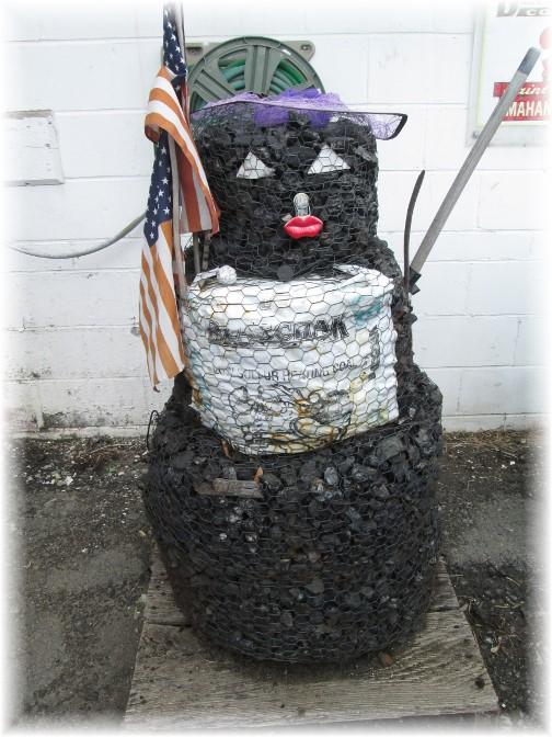 Coal man at Amish farm store, Fort Plain, New York