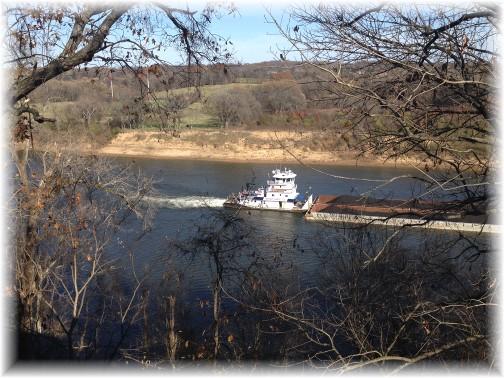 Barge on Cumberland River near Nashville 11/26/15