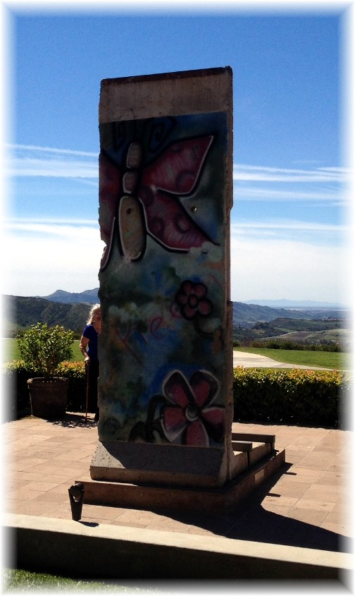 Piece from Berlin Wall at Reagan Library