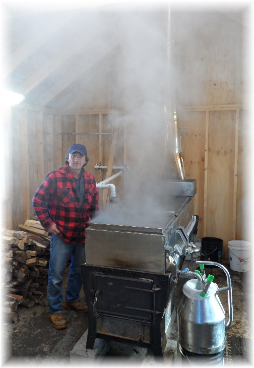Massey ranch sugar shanty syrup processing 3/23/13