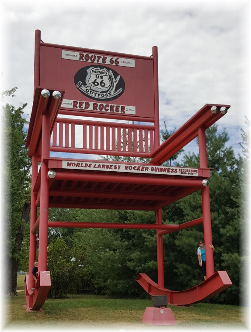 Route 66 rocking chair, Cuba, MO 7/31/17
