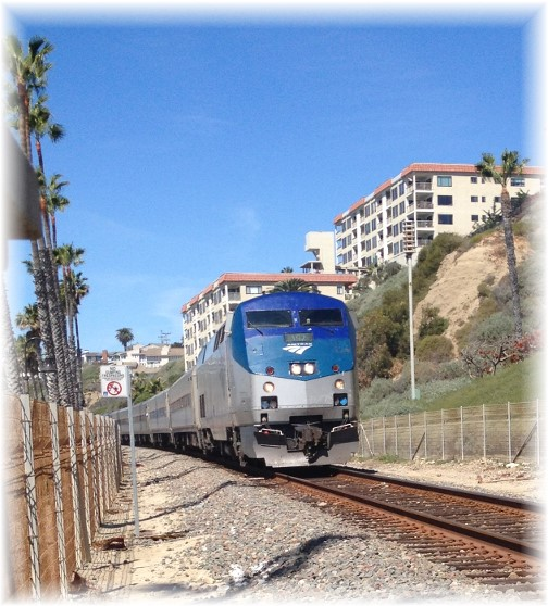 Shoreline train in San Clemente California