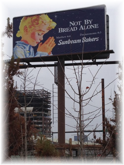 Sunbeam Bakers billboard near downtown Nashville