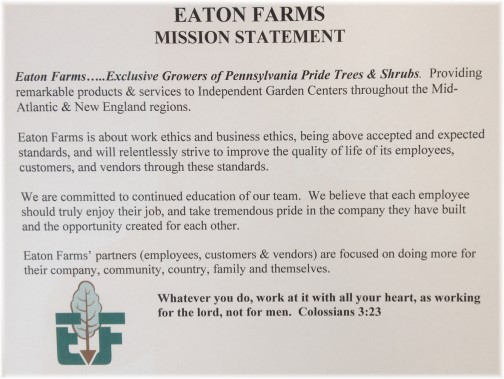 Eaton Farm mission statement