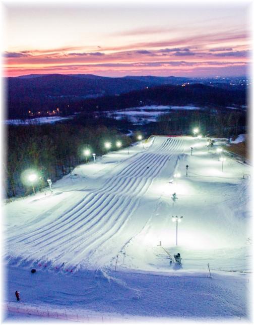 Iron Valley snow tubing course