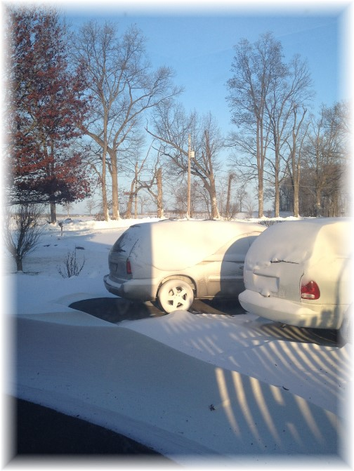 Winter blast 2/15/15 Drifts out office window