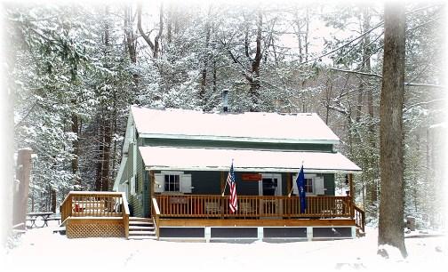 Winter cabin (photo by Greg Schneider)
