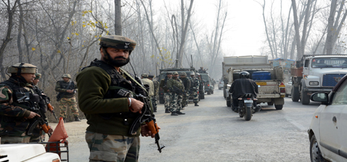 Image result for Indian Army Convoy Comes Under Attack in Bijbehara