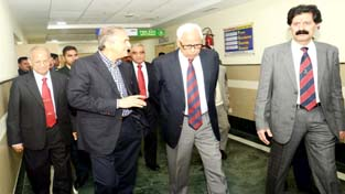 Governor N N Vohra inspecting SMVDNSH at Kakryal on Thursday.